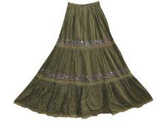 Peasant Long Skirt, Bohemian Fashion Sequin Embroidered Maxi Skirts for Women Mogul Interior,http://www.amazon.com/dp/B00BMKFVEW/ref=cm_sw_r_pi_dp_2pmmrb0VAPM1QVRY
