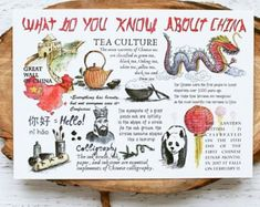 Tea Culture, Great Wall Of China, Oolong Tea, Did You Know, Place Card Holders, Postcards, Chinese, Kunst, Great Wall China