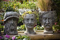 Unique flower pots.