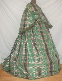 All The Pretty Dresses: Green Plaid 1860's Dress