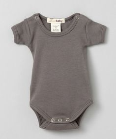 Take a look at this Gray Short-Sleeve Bodysuit - Infant by L'ovedbaby on #zulily today! $10