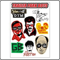 Cyrus I GOT WORK TO DO Die Cut Vinyl Sticker Trailer Park Boys BUBBLES RICKY