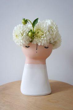 Original Miss Marshmellow – ceramic – stoneware – pottery – vase Pottery Vase, Ceramic Pottery, Keramik Design, Deco Floral, Ceramic Artists, Ceramic Vase, Flower Power, Stoneware, Earthenware
