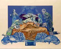 """Sabbath Bloody Sabbath"" by Black Sabbath, 'WWA' Records, LP, [BACK COVER], (1973) - Color Pencil & Acrylic On Board of Cover Artwork Illustration Album by Drew Struzan (b. 1947, American), Size: 30"" x 40"", Creative Director Ernie Cefalu  ~  [Original Illustration pre-finish stamped]."