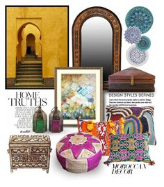 """""""Memories of Marrakech"""" by kateo ❤ liked on Polyvore featuring interior, interiors, interior design, home, home decor, interior decorating, Amanti Art, Kelly Behun Studio, moroccandecor and 7283"""
