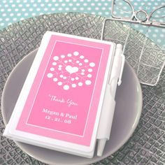 Snowy Notes Notebook Wedding Favors that are personalized and come in a variety of color choices