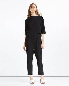 Image 1 of LONG LAYERED JUMPSUIT from Zara