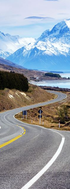 New Zealand Travel Inspiration - Cinematic Road to Mount Cook , New Zealand   |    23 Roads you Have to Drive in Your Lifetime