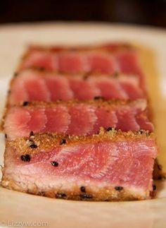 Seared Yellowfin Tuna Recipe!
