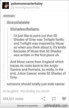 I will never get tired of stabbing Caesar puns.