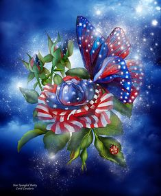Star spangled butterflyThere is no other like youOn a rose of redwhiteand blue.Star Spangled Butterfly prose by Carol Cavalaris.This artwork of a red. 4th Of July Images, Patriotic Pictures, Patriotic Quotes, Eagle Pictures, Image Beautiful, Beautiful Pictures, Happy Fourth Of July, July 4th, I Love America