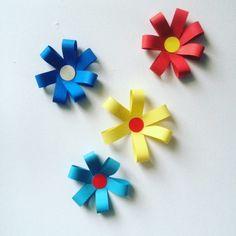 Flechtstreifen Sortiment 3 Sorten, Blumen aus Papierstreifen, schnell gemacht und hübsch