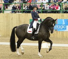 Charlotte Dujardin and Valegro score 90.625% in performance of new Olympic Freestyle in final competition before leaving for Rio de Janeiro. © 2016 Ken Braddick/dressage-news.com. 6/9/16. They're  BACK-!!!