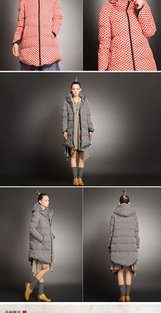 Buy Melosio Dotted Down Coat at YesStyle.com! Quality products at remarkable prices. FREE Worldwide Shipping available!