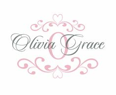 Name Wall Decal Damask Wall Decal Shabby Chic Heart by wallartsy, $49.00