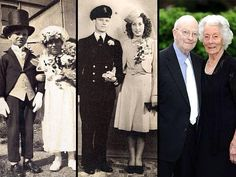 Couple who first posed together at age 4, still going strong at age 91!