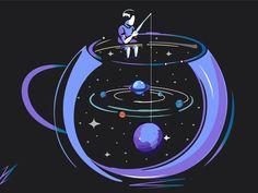 Illustrations Discover Man In Dream Wallpaper Space, Pastel Wallpaper, Galaxy Wallpaper, Arte Do Kawaii, Aesthetic Art, Cartoon Art, Aesthetic Wallpapers, Cute Wallpapers, Cute Art