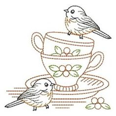 Tea Cup Birds