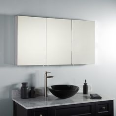 "$460 47"" Capote Stainless Steel Medicine Cabinet - Medicine Cabinets - Bathroom"