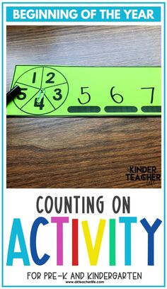 Counting math centers for beginning of the year for kindergarteners. Using hands-on activities, students will practice counting and identifying numbers 1 to 10 using ten frames, their fingers, drawing pictures, and partner activities. Discover new ways to teach these concepts and download a freebie too! Kindergarten First Week, Kindergarten Special Education, Number Sense Kindergarten, Number Sense Activities, Kindergarten Worksheets, Hands On Activities, Student Learning, Working With Children, Math Centers