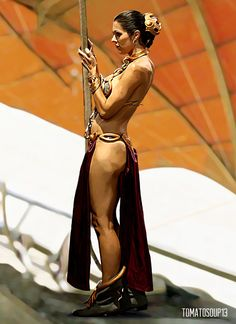 Slave Leia - Star Wars - Adrianne Curry by tomatosoup13