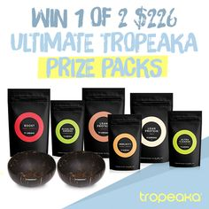 Help us both win this awesome Tropeaka.com.au giveaway! There's two $226 health and body prize packs up for grabs! :)
