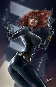 Resultado de imagen de black widow dibujo animado