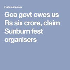 Goa govt owes us Rs six crore, claim Sunburn fest organisers