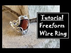 Wire Wrapping Time Lapse Tutorial - Light of September Bracelet Wire Rings Tutorial, Wire Wrapping Tutorial, Ring Tutorial, Diy Jewelry Tutorials, Handmade Jewelry Designs, Handmade Rings, Bijoux Fil Aluminium, Wire Wrapped Rings, Wire Weaving