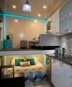 The home features an inverted loft with main floor bedroom and lofted lounge area.