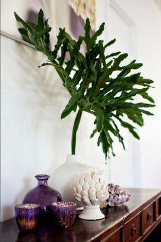 leaf in vase