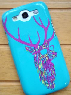 "Samsung Galaxy s3 case ""Party Deer"" - from CreateandCase.com"
