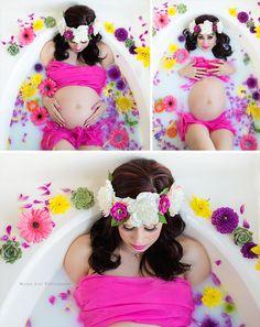 Maternity Milk Bath by Mackie Jean Photography   Mackie Jean Photography