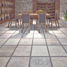 Italtile : Gres Patchwork Matt Glazed Ceramic Tile 450x450mm