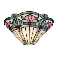 Tiffany style ceiling lights and lamps featuring beautiful stained glass tiffany shades. Shop Tiffany table lamps, floor lamps, ceiling lighting and more. Faux Stained Glass, Stained Glass Lamps, Stained Glass Projects, Stained Glass Patterns, Stained Glass Windows, Wall Sconce Lighting, Wall Sconces, Hallway Lighting, Tiffany Lamp Shade