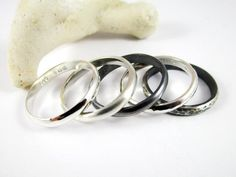 Half Round Silver Ring (1) 3mm .925 Sterling Silver Unisex Ring High Polish Satin Ring Patina Ring Hammered Ring Wedding Band Silver Band Tarnished Jewelry, Casual Rings, Simple Jewelry, Wedding Ring Bands, Sterling Silver Rings, Jewelry Making, Polish, Satin, Unisex