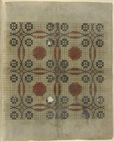 Philadelphia Museum of Art - Collections Object : Weaving Pattern Manuscript Black And White Quilts, Philadelphia Museum Of Art, Needlepoint Pillows, Weaving Patterns, Cross Stitching, Cross Stitch Patterns, Swatch, Bohemian Rug, Objects