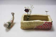 하늘빚다 사각수반 : 네이버 블로그 Clay Studio, Salt Dough, Ceramic Clay, Clay Jewelry, Jewellery, Art For Kids, Polymer Clay, Objects, Porcelain