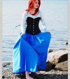 diy ariel costume blue dress - Google Search