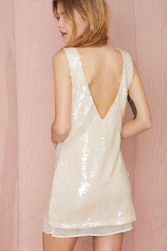Nasty Gal 'Love Hangover' White Sequin Dress