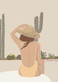 #illustration #ilustración #ilustração #vacation #summer #summerstyle #art #artist #artwork #arte #color #puertoricoart #aesthetic #palette #cactus #bathing #bikinizone Girl Fashion, Photo And Video, Digital, Drawings, Illustration, Girls, Artwork, Fictional Characters, Instagram