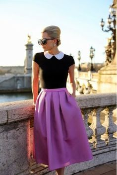 How to Chic: FASHION BLOGGER STYLE- ATLANTIC PACIFIC - HOW TO STYLE A MIDI SKIRT