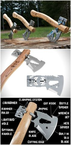 The KLAX is the answer for anyone who wants the utility of carrying an axe on their adventure but doesn't want to carry on Survival Weapons, Survival Tools, Wilderness Survival, Camping Survival, Outdoor Survival, Survival Prepping, Emergency Preparedness, Outdoor Gear, Bushcraft