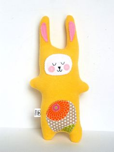 Kids Baby Plush Bunny Rabbit Doll Stuffed by FriendsOfSocktopus,