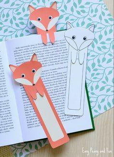 modele-de-marque-page-enfant-en-forme-de-renard-orange-et-blanc-en-papier-activité-manuelle-facile-et-rapide