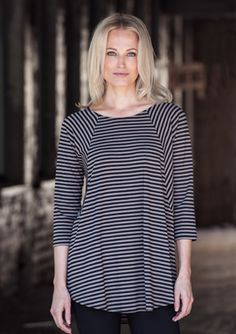 Description: A-line stretch jersey tunic with raglan sleeves. Tunic Tops, Clay, Sleeves, Collection, Women, Products, Fashion, Blouses, Clays