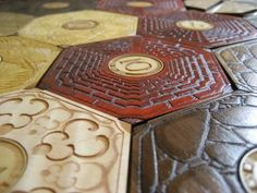 Gorgeous wooden Settlers of Catan board by Board Crafting!