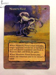 Mesmeric Fiend - Extended MTG Alter - Revelen's Light Altered Art Magic Card #WizardsoftheCoast