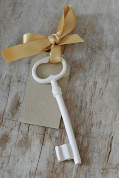 Yellow ribbon Ceramics by Shan Annabelle Valla Under Lock And Key, Key Lock, Antique Keys, Vintage Keys, Paint Keys, Little Presents, Old Keys, Knobs And Knockers, Key To My Heart
