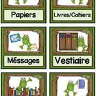 "French classroom job cards in a frog theme.  Coordinates with my other French frog themed products.  The cards measure 3 1/4"" x 3"".  There is also ..."